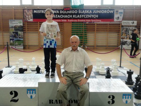 Eryk Olawiński i burmistrz Radkowa Jan Bednarczyk